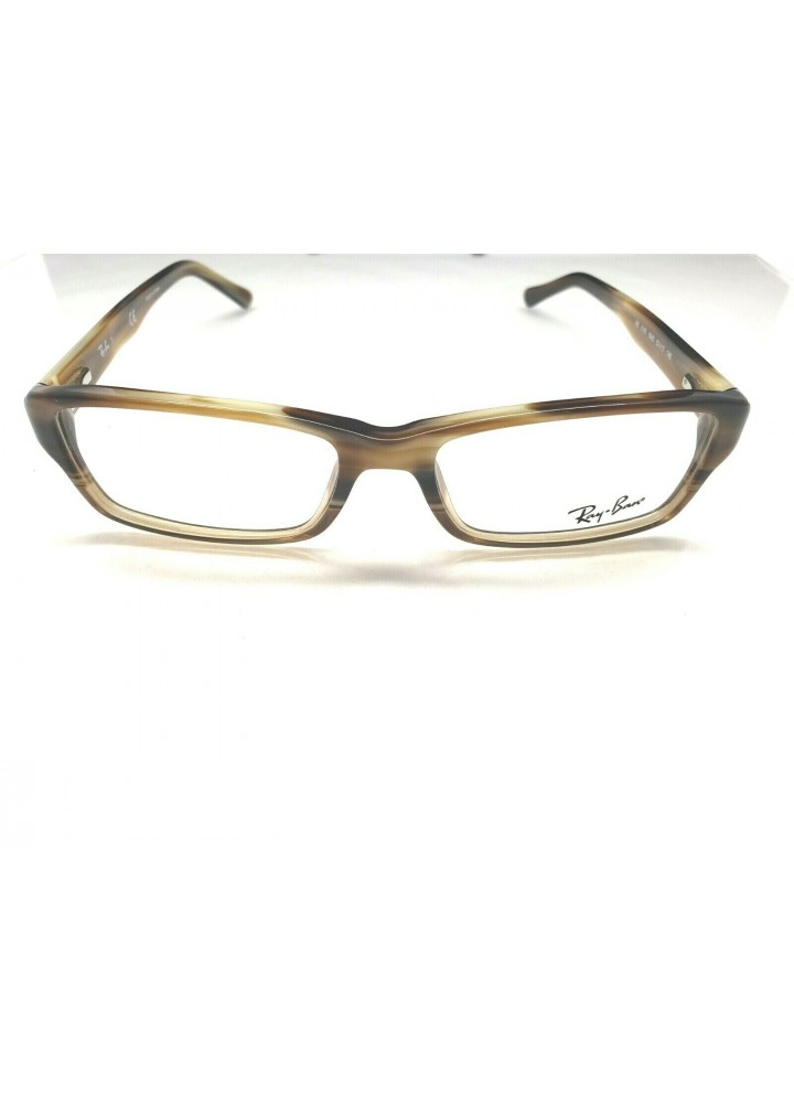 Ray-Ban RB 5169 5542 Rectangular Eyeglasses - Brown Horn