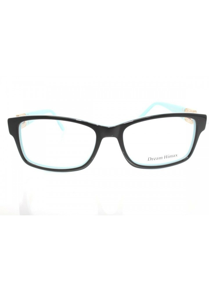 Dream Himax Women's Eyeglasses 8351 C9 - Black / Teal [Petite]