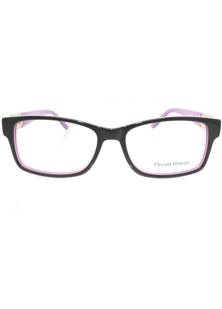 Dream Himax Women's Eyeglasses 8351 C10 - Black / Purple